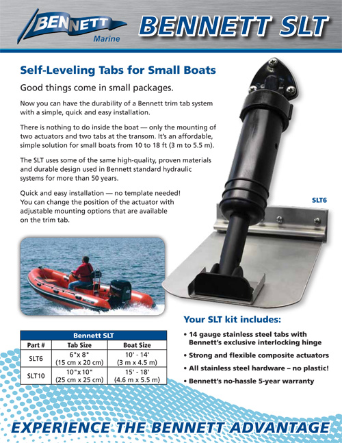 CLR Marine and You: Bennett Self-Leveling Trim Tabs for